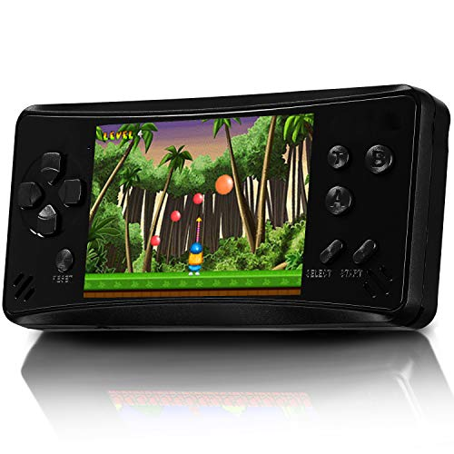 Retro Plus Handheld Games for Kids Adults, 218 Classic Games Built in Portable Arcade Video Games Player 3.5 Inch TFT Big Screen Rechargeable Li-ion, Support AV Output,Earphone,Volume Control -Black