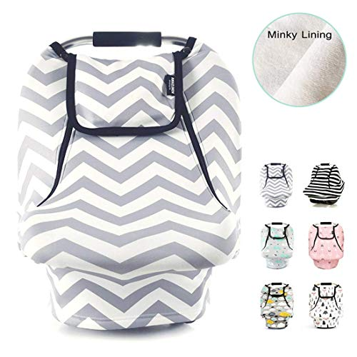 Stretchy Baby Car Seat Covers for Boys Girls, Infant Car Canopy...