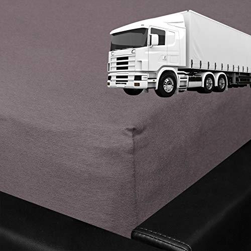 G Bettwarenshop Spannbettlaken Für LKW Truck Matratzen Mit Rundumgummi 60x200 cm Graphit