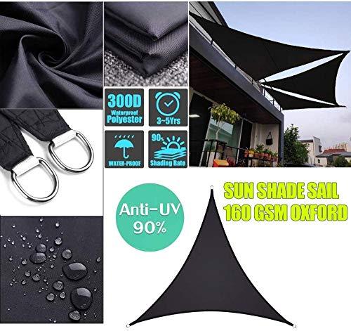 Freestyle Shade 300D auvent étanche en Polyester Triangle équilatéral Voile d'ombrage Protection Solaire extérieure pour Le Camping de Jardin (Couleur: 5x5x5m)-3x3x3m 0708