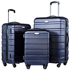 Warranty:Two Years Warranty. Please note that ONLY FAMILY SET has 4 pcs, please ignore the product's title and select the set you want. 3 piece luggage set 20 inch,24 inch,28 inch upright, can be stored one into another.100% ABS, Lightweight yet extr...