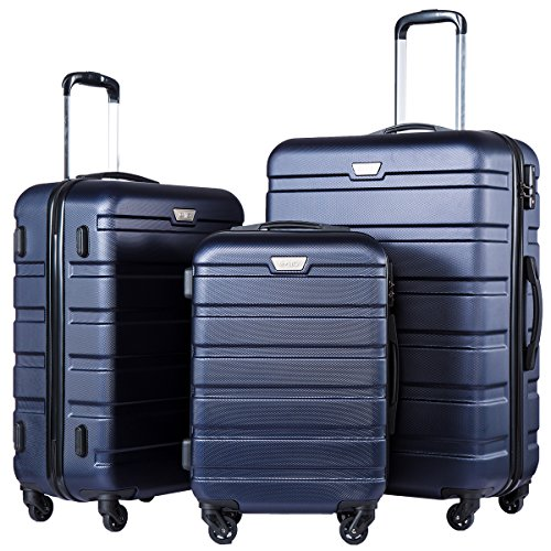 COOLIFE Luggage 3 Piece Set Suitcase Spinner Hardshell...
