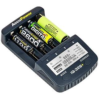 AccuPower IQ328+ V2 Ladegerät für 18650 Li Ion AkkusAA