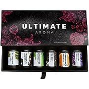 Essential Oils by Ultimate Aroma 100% Pure Therapeutic Grade Oils kit- Top 6 Aromatherapy Oils Gift Set-6 10ML(Eucalyptus, Lavender, Lemon Grass, Orange, Peppermint, Tea Tree)