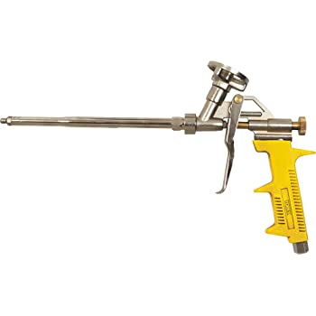 Pistola espuma poliuretano Revestimiento PTFE Trabajos aislamiento Reforma Obra Aislamiento t/érmico