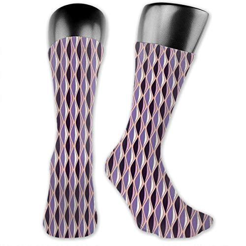 mächtig der welt Papalikz Kompressionssocken für die mittlere Wade mit vertikalen Wellenlinien in violetten Kurventönen…