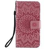 KKEIKO Hülle für Galaxy J2 Core, PU Leder Brieftasche