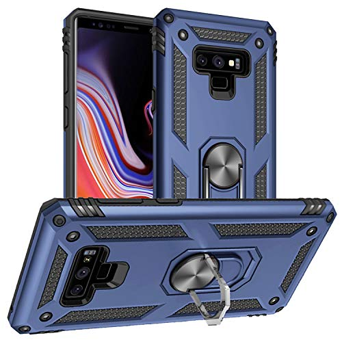 Pegoo Galaxy Note 9 Hülle, Handyhülle Dual Layer Hybrid Harte Rüstung Drop Resistance Handys Schutzhülle für Samsung Galaxy Note 9 (Dunkelblau)