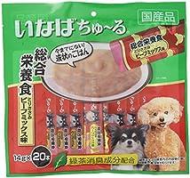 いなば 犬用おやつ ちゅ~る 総合栄養食 とりささみ ビーフミックス味 14g×20本入