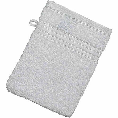 Myrtle Beach - lot de 10 gants de toilette - blanc - 15 x 21 cm - MB425