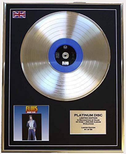 Everythingcollectible Elvis Presley/Limitierte Edition Platin Schallplatte/Moody Blue