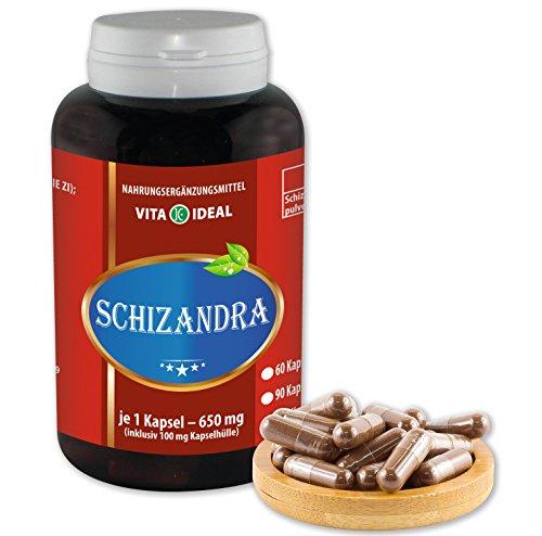 Schizandra (Wu Wie Zi) 180 Kapseln je 590mg rein natürliches Pulver, ohne Zusatzstoffe