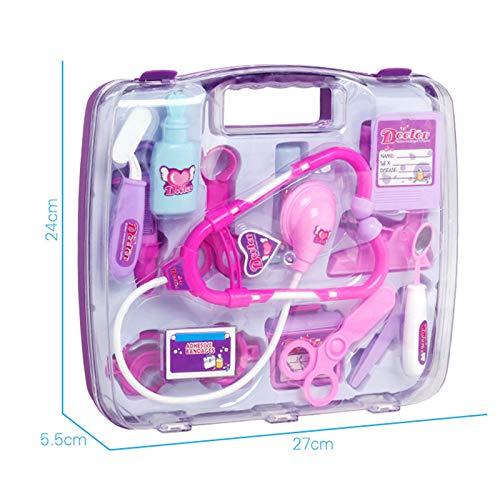 LYing Simulación de Equipo médico Infantil, Kit médico portátil de Varias Piezas, Juguetes de médico de la casa de Juegos