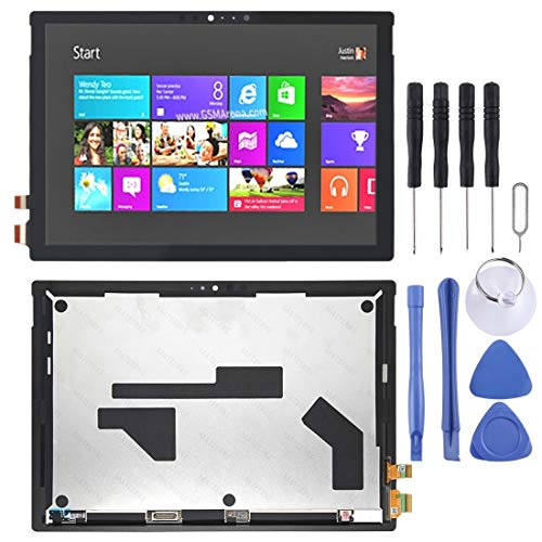 YUKIKI LCD Screen and Digitizer Full Assembly for Microsoft Surface Pro 6 1807(Black) (Color : Black)