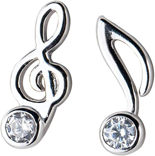 OUHUI Musical Note Earrings Sterling Sier Women's Wedding Earrings Jewelry Drop Earrings Women Ladies Earrings Retro