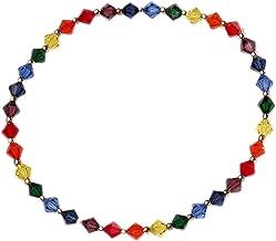 Curious Designs Bracelet, Elastic Stretch - Chakra Colors, Crystal Beads