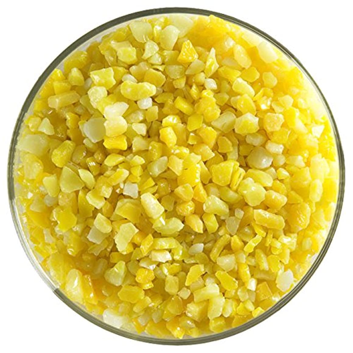 Sunflower Yellow Opalescent Fusible Glass Coarse Frit - 8oz - 90COE - Made From Bullseye Glass