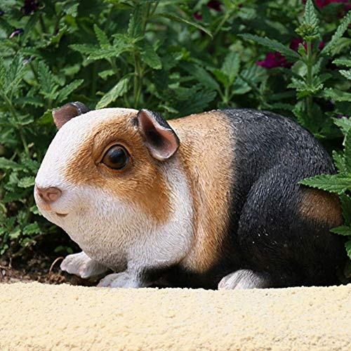 Guinea Pig Statues for Yard and Garden, Resin Animal Sculptures for Living Room Table Figurine Ornament Home Garden Decor Bookshelves Collection,A