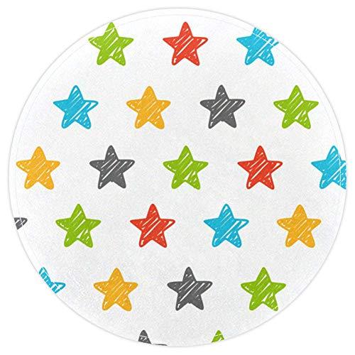 EZIOLY Sketchy Star Doodle Alfombra de baño Antideslizante, Lavable,