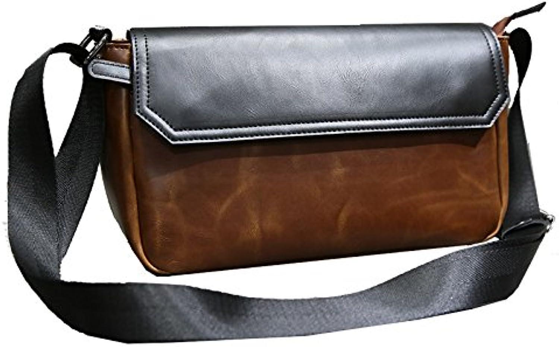 Hongrun Elegante und einfache Naht, für für für Männer 2018 koreanische Version von der Tide Jugend wild Crazy Horse Leder Einzel Schulter obliquer Querschnitt Paket Handy. B07BW94CKF  Zuverlässiger Ruf eca3d2