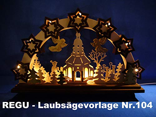 REGU Laubsägevorlage Frohe Weihnachten Nr. 104
