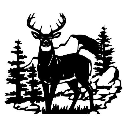 WYLYSD Auto-Aufkleber 35,6 X 30,8 cm Deer Wild Animal Auto Aufkleber Jagd Auto Styling Tür Aufkleber Schwarz/Silber C9-1816