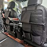 2PCS Tactical Seat Back Organizer Molle Car Backseat Gun Rack Shotgun Holder Panel Accessories Vehicle Seatback Rear Storage Cover Protector for Truck MPV Wrangler