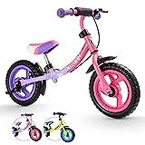 HAPTOO Laufrad ab 2 Jahre Mädchen, Laufräder Kinder mit Bremse Lila