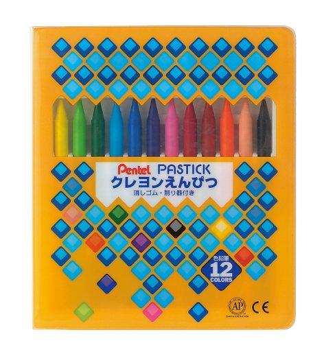 GCR1-12 Pentel 12 crayon de couleur crayon pastic (japon importation)