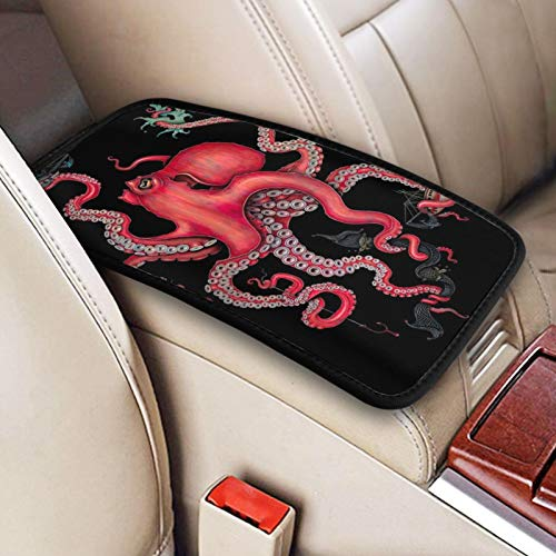 JOEKAORY Car Armrest Cover Octopus Intertwined Printed Auto Center Console Protective Cover Fit for SUV/Truck/Car, Waterproof Car Armrest Seat Box Cover