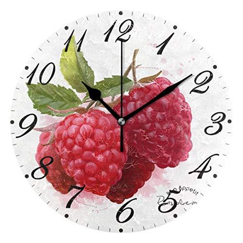 Jacque Dusk Reloj de Pared Moderno,Frambuesa,Grandes Decorativos Silencioso Reloj de Cuarzo de...