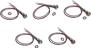 Sharplace 5 Pcs Indicateur De Signal En M/étal LED 6mm 3 V Led Voyant Davertissement