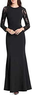 Womens Lace Sequined Evening Dress