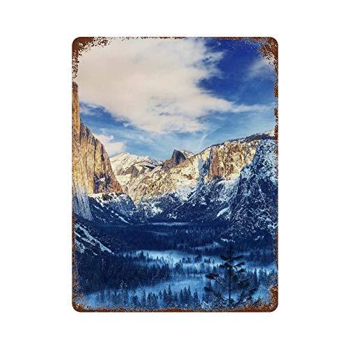 BDGHTDARED Cartel retro de metal para colgar en la pared, 15.7 x 11.8 pulgadas, placa de hierro, para decoración de oficina, cafetería, club, hombre cueva, garaje, Yosemite Sierra Nevada