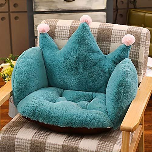 GZQDX Cojín para Silla de sofá para bebé, Funda de cojín de Felpa con Corona de Dibujos Animados, Cojines para el Suelo, cómodo Relleno para Cuna para niños pequeños (Color : A)