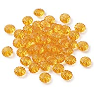 Pandahall 50pcs Clear Orange Acrylic Pumpkin Beads Loose Beads Spacer Lantern Charm Beads 14x9.4mm for Halloween Jewelry Making Bracelet Necklace Earrings Supplies Decoration