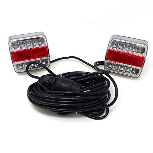 Kit Luces Magnetico 12V con faros de LED ama 75991Tractor Remolque Agricolo