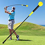 Zeonetak Golf Swing Trainer Aid for Improving Rhythm Flexibility Balance Tempo and Strength,Flexible Warm-up Club for Indoor Practice Course Driving Range,Golf Gifts for Men Women (Canary, 40)