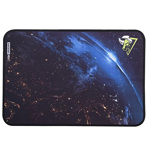 Rantopad H1X Nebula Silky Cloth Gaming Mouse Pad with Stitched Edges, Rubber Base, 16.5x11x0.15 inches (Large)