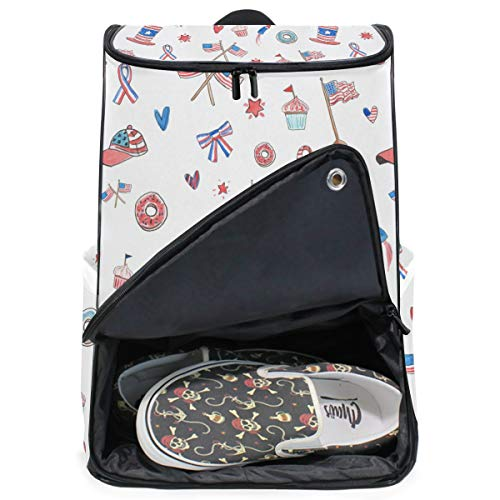 FANTAZIO American Elements Professional Weekender Handgepäck-Rucksack für Reisen und Business