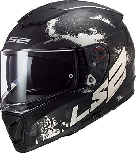 Casco moto LS2 FF390 BREAKER DEFT MATT BLACK TITANIUM, Nero/Titanium, XL