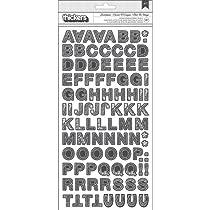 """スニペット チップ Thickers アルファ ステッカー 5.5""""× 11""""-スケッチ ブック/チャコール"""