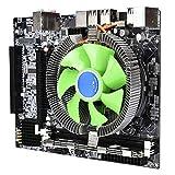 Tangxi Kit de Tarjeta Madre para PC de Escritorio, Placa Madre X58 + CPU de 2.66 GHz para Intel Xeon X5650 + 8G DDR3 1333MHz Memoria + Ventilador de enfriamiento de 2500 RPM