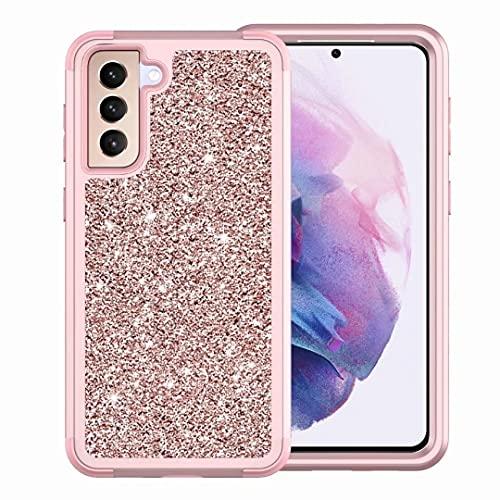 Carcasa para iPhone 12 Mini, de silicona suave, resistente a los golpes, híbrida, carcasa de doble capa, carcasa rígida de policarbonato suave, funda protectora para iPhone 12 Mini, oro rosa
