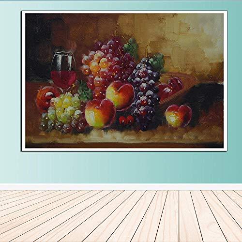 Preisvergleich Produktbild WSKPE DIY Digitale Gemälde,  kreative Gemälde auf Leinwand,  dekorative Gemälde,  Stillleben,  Obstteller,  Lechao,  Wandoberfläche,  Wandgemälde,  40 * 50cm