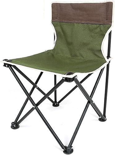 RenShiMinShop Chaise de pêche Tabouret de pêche portable Pliant léger Chaise de pêche en Plein air Camping Loisirs Plage Tabouret De Pêche (Couleur   vert, Taille   60  36  36cm)
