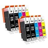 GPC Image Cartouche d'encre 364XL (pack de 10) compatible pour HP 364 364-XL pour HP Photosmart 5510...