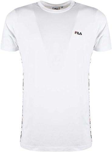 Fila Homme 682362M67 Blanc Coton T-Shirt