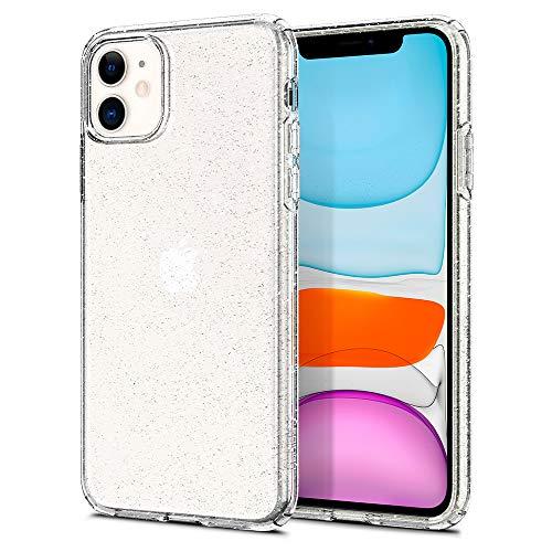 Spigen Liquid Crystal Glitter Hülle Kompatibel mit iPhone 11 -Crystal Quartz