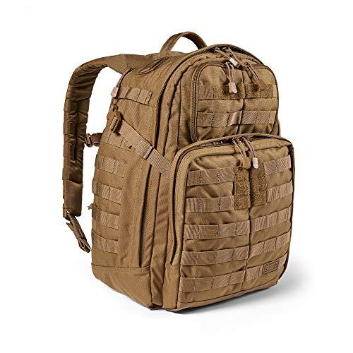5.11 Mochila Táctica Rush 24 2.0 – Mochila Militar Molle, CCW Portación Oculta y Compartimento para Ordenador Portátil, 37 litros, Mediana, Estilo 56563 – Color Canguro